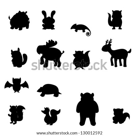 forest animal set - stock vector