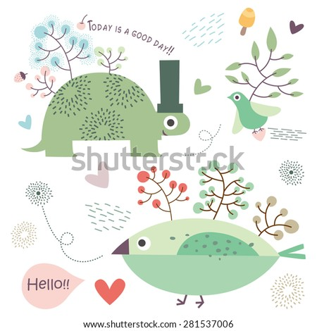 Forest animals.vector