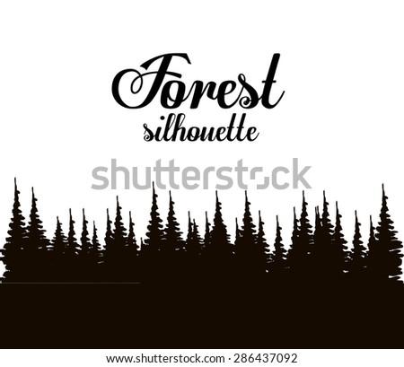 Forest design over white background, vector illustration - stock vector