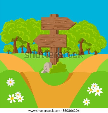 forest path - stock vector
