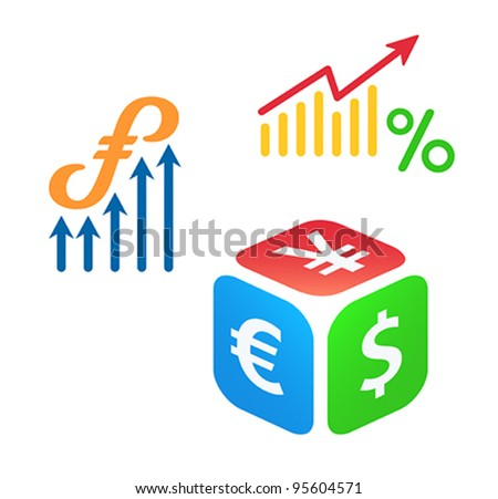 Forex trading concepts - stock vector