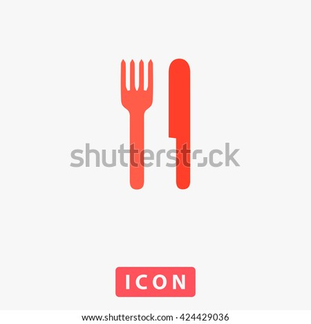 Fork and Knife Icon Vector. Fork and Knife Icon Logo. Fork and Knife Icon Picture. Fork and Knife Icon UI. Fork and Knife Icon EPS. Fork and Knife Icon AI. Fork and Knife Icon Drawing - stock vector