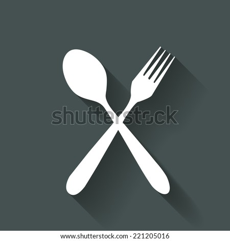 fork and spoon  - stock vector