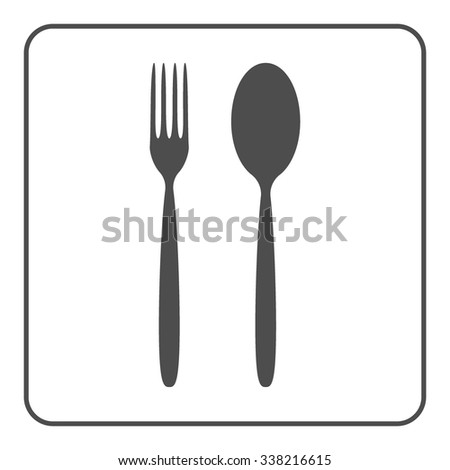 Restaurant Kitchenware fork spoon icon utensils symbols kitchenware stock vector