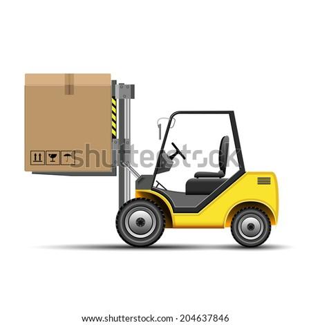 Forklift - stock vector