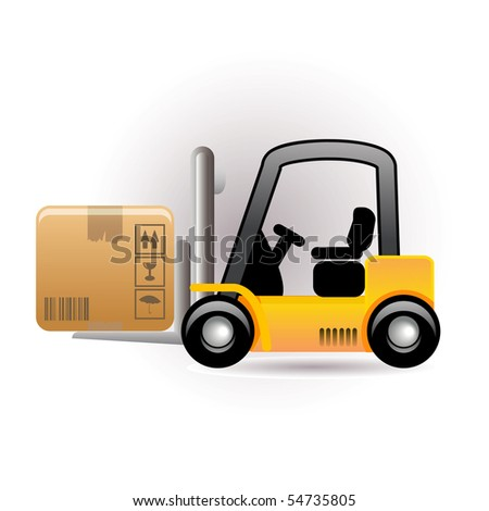 forklift icon - stock vector