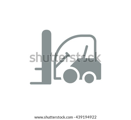 forklift icon. delivery icon. - stock vector