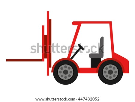 forklift truck isolated icon design, vector illustration  graphic