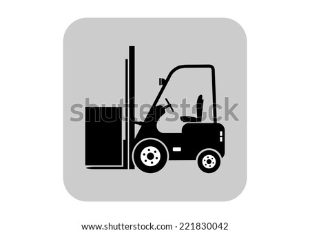 Forklift vector icon  - stock vector
