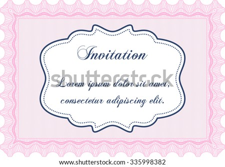 Formal invitation template beauty design border stock vector formal invitation template beauty design border framewith complex linear background stopboris Images