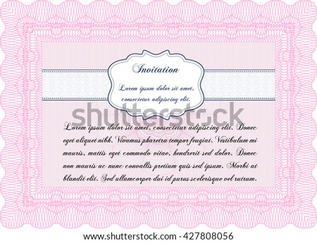 Formal invitation template. Customizable, Easy to edit and change colors. With complex background. Excellent design.