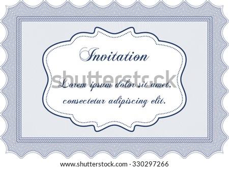 Vector Illustration Formal Invitation Template Easy Stock Vector