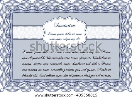 Formal Invitation Template Lovely Design Complex Stock Vector