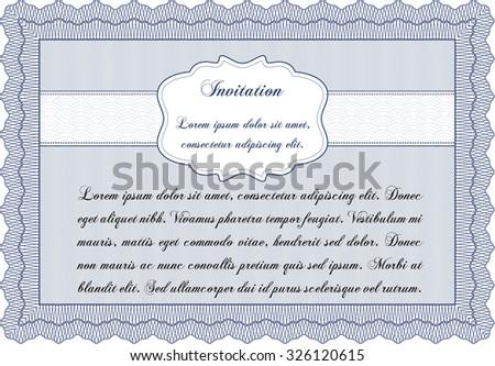 Formal Invitation Template Lovely Design Customizable Stock Vector