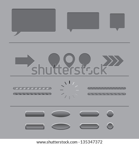 forms and elements for web design. gray background. vector eps10 - stock vector