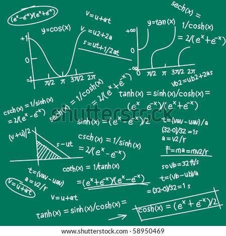 formula doodle - stock vector