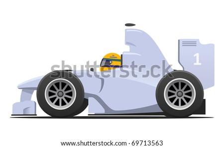 Cartoon RC Formula Race Car Radio Control Toy by Liberty