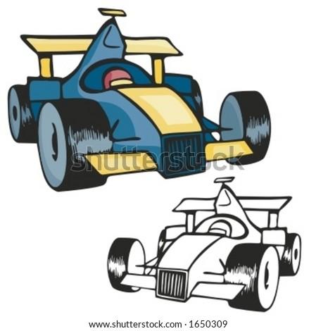 Formula one. Vector Illustration - stock vector