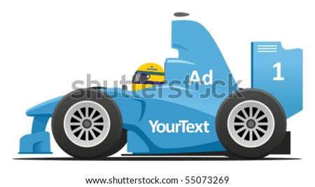 Formula racing car - stock vector