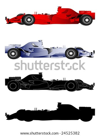 Formula 1 Sport Cars - stock vector