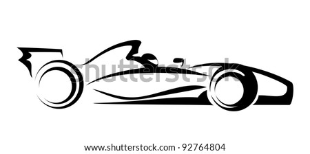 formula 1 symbol - stock vector