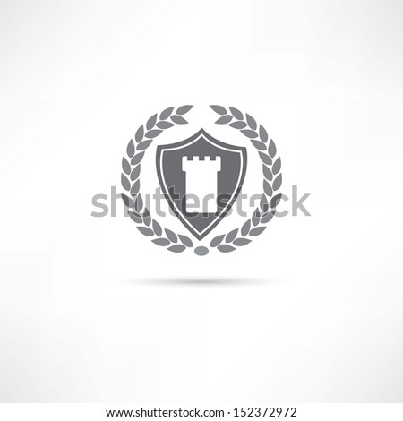 fortress icon - stock vector