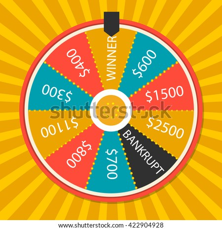 fortune wheel vector illustration colorful lucky stock vector, Powerpoint templates