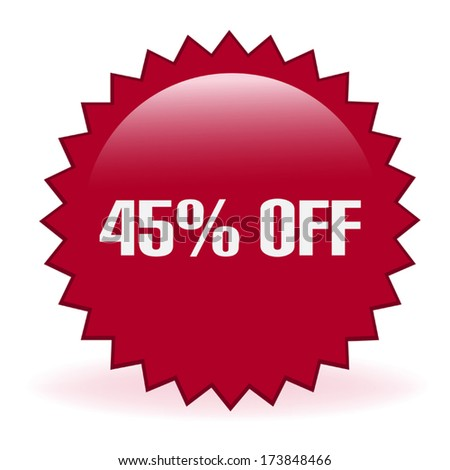 Forty Five Percent Discount - stock vector