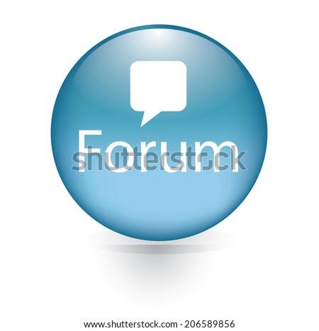 forum Subscribe word blue button - stock vector