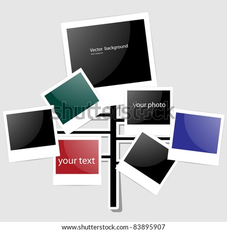 Foto frame tree - stock vector