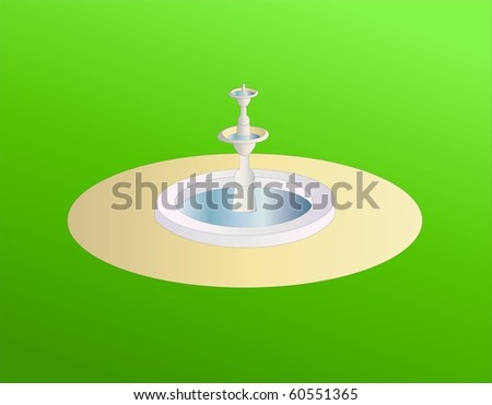 fountain ( background on separate layer ) - stock vector
