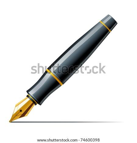 Fountain pen - stock vector