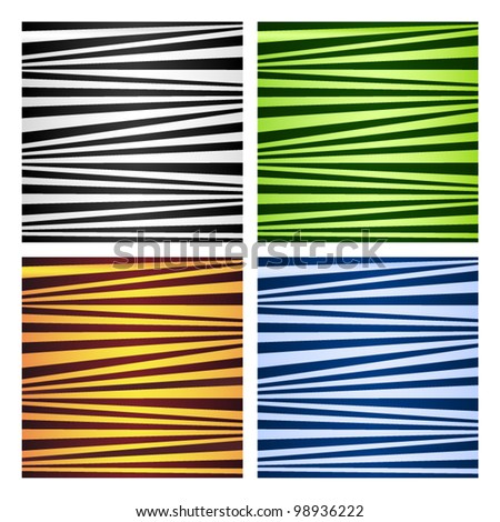 Four abstract striped backgrounds. Vector illustration. - stock vector