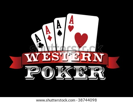 Four aces. Casino Poker Cards on black background. Vector file.