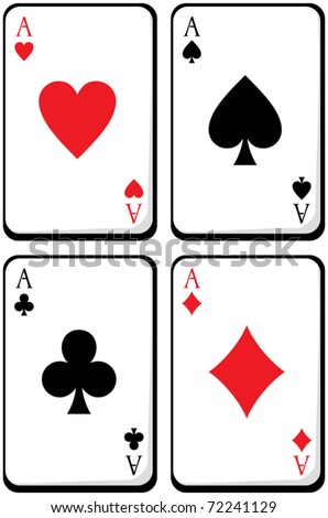 four aces. vector illustration - stock vector