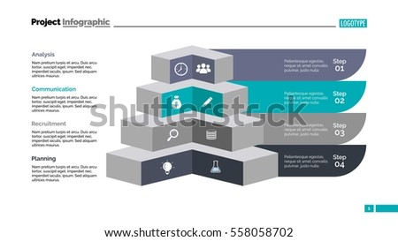 Four Angles Diagram Slide Template