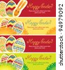 four banners for Easter holiday - stock vector