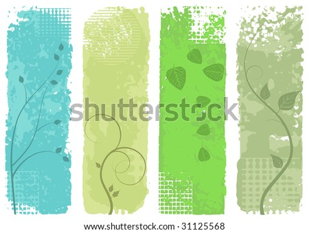 four banners - vector set - stock vector