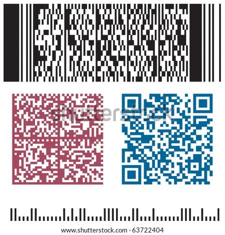 four bar code in a vector - stock vector