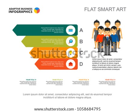 Four Bar Teamwork Infographics Editable Template Stock Vector (2018 ...