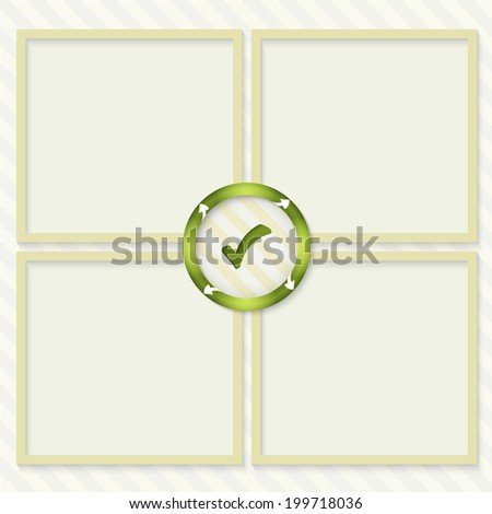four boxes for entering text with arrows and check box - stock vector