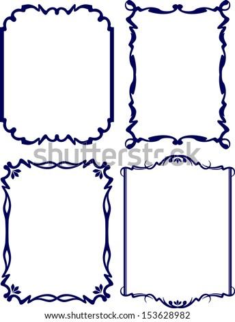 Four classical decor frames  - stock vector
