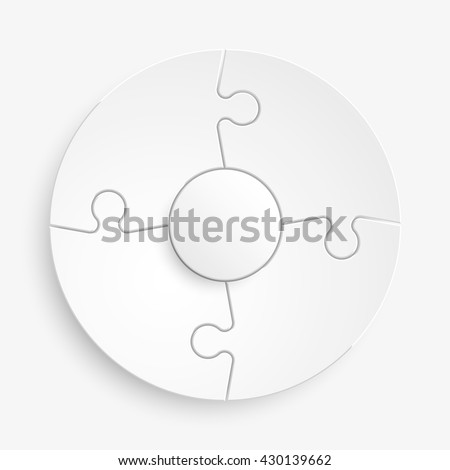 Four 3d puzzle background puzzle vector puzzle icon puzzle flat puzzle piece puzzle circle puzzle infograph puzzle business puzzle step puzzle icon puzzle piece puzzle infograph puzzle business puzzle - stock vector