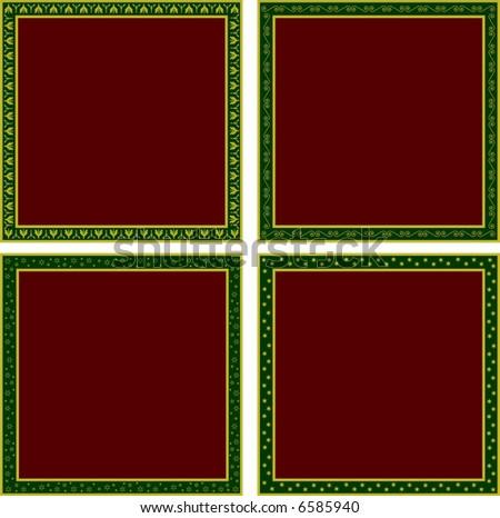 four elegant cards - stock vector