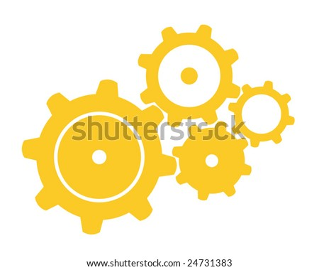 Four Gears - stock vector