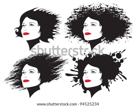 four girls with different hairstyles