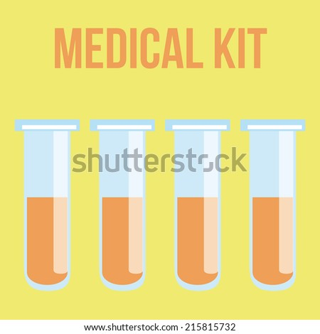 four glass bottles with some mixes on it - stock vector