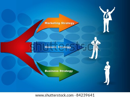 Four key of strategy - abstract business illustration - stock vector