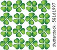 Four leaf clover seamless background. EPS10 vector format - stock photo