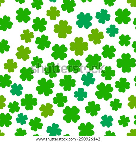 Four leaf clover seamless pattern - stock vector